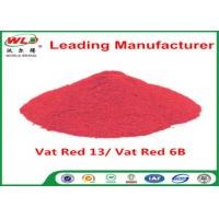 Buy cheap Indigo Clothes Dye C I Vat Red 13 Vat Dyes Red 6B Not Dissolved In Water product
