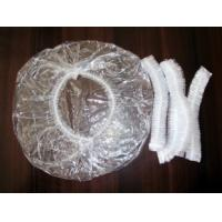 Buy cheap PE Plastic Disposable Surgical Caps / SPA Strip Shower Hats For Adults product