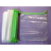 Buy cheap Personalised HDPE / LDPE Clear Drawstring Plastic Bags For Packaging product