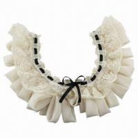 China Collar with Pearl on Chiffon, Lace Fabric Base, Latest and Fashionable Designs on sale
