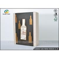 Buy cheap High End Paper Wine Box Gold Hot Stamping Finishing Hardcover Hand Box product