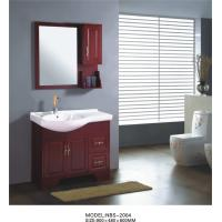 Buy cheap 90 X 48 X 85 / cm Solid Wood Bathroom Cabinet furniture style bathroom vanity cabinets product
