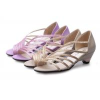 Buy cheap Low Heel Purple Summer Fashion Sandals With PU Straps Hollow Upper Back Counter product