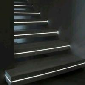 Buy cheap Prefab house Modern floating wood stair glass railing internal stair residential metal stair product