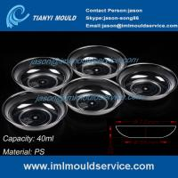 Buy cheap 40ml ps clear disposable plastic dessert plate mould/disposable plastic party plates mould product