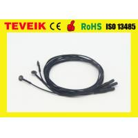 Buy cheap Flexible soft EEG electrode cable with silver chloride plated copper cup product