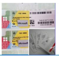 Buy cheap Original Microsoft COA Label Windows 10 Professional OEM Key 100% Activation product