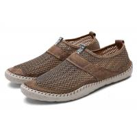 Buy cheap Breathable Loafer Slip On Shoes Mesh Upper Suede Leather Around Hand Sewing product