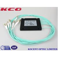Buy cheap GPON EPON FTTH 1x8 Multimode Fiber Optic Splitter , OM3 Optical Fiber Coupler 50/125 product