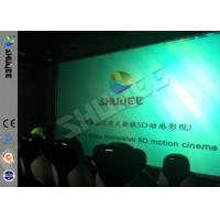 Buy cheap Genuine Leather Convenient 6D Movie Theater With 3DOF Motion Chairs product