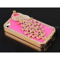China Pink iphone 4 /4s cases classical jeweled phone cases PU leather with diamond hard mobile phone cases on sale