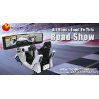 China Indoor Arcade Racing Car Virtual Reality Simulator With 3 Screen 4KW on sale
