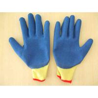 Buy cheap 10G 5 Poly/Cotton strands knit liner latex coated gloves product