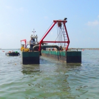 Buy cheap Hydraulic Reclamation Works Gold Dredge Boat 12m Depth product