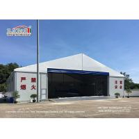 Buy cheap Waterproof And Flame Retardant Cover Aircraft Hangar Tent With Auto Roll Up Door / 25m Width Aluminum Frame product