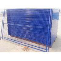 Buy cheap Outdoor Temporary Security Galvanized Steel Fence Panels Round / Square Post product