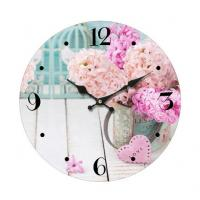 Buy cheap Promotional Custom printed glass wall clock Antique Round Shape Metal Wall Clock for home decoration product