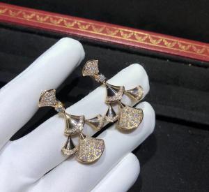 Buy cheap sophisticated 18K Gold Diamond Earrings , Bulgari Divas Dream Earrings product