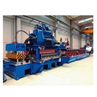 China Spiral Galvanized Grain Silo Tank Roll Forming Machine For Corrugated Sheet Side Panel on sale