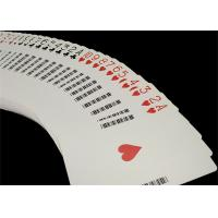 Buy cheap Unique Plastic Playing Cards 0.3mm Thickness Personalized PVC Playing Cards product