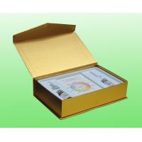 China Gold Art Paper Cosmetic Box Packaging For Skin Care / Cosmetic Cardboard Box on sale