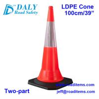 100cm Orange  Plastic Reflective Traffic Cones for sale for road,highway,street,construction and parking safety cones