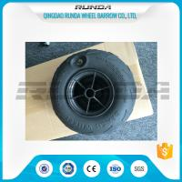 Buy cheap No Axle Pneumatic Wheelbarrow Wheels Puncture Resistant PVC 230mm*115mm product