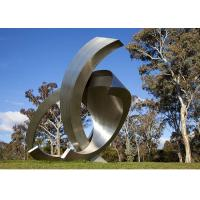 Buy cheap Garden Large Modern Abstract Stainless Steel Decorative Sculpture product