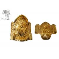 Buy cheap Gold Coffin Corner Christ A# PP Materials , Funeral Accessories Suppliers product