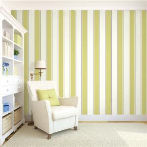 Buy cheap Top quality waterproof mould proof stripe design PVC vinyl wallpaper product