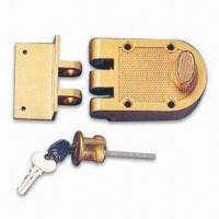Buy cheap Zinc-alloy Rim Deadbolt Lock, Suitable for Wooden Doors product