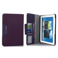 China Brown Tablet PC Leather Case Wallet Stand For Samsung Galaxy Note N8000 N8010 , 7 Card Holder on sale