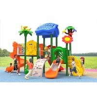 Buy cheap Carton House Theme Plastic Play Structure With Slide Small Children Baby Kids product
