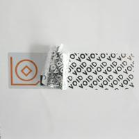 Buy cheap Metalized Foil VOID Security Labels Total - Transfer For Cosmetics Plastic Packaging product