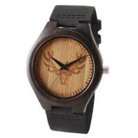 China Water Proof Unisex Wooden Quartz Watch Multi Functional Mineral Glass Most Accurate on sale