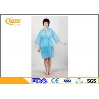 Buy cheap Pink Lightweight Disposable SPA Products Bathrobes / Bathroom Robe Sauna Suit Gown product