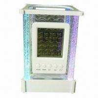 Buy cheap Color Lights Calendar Pen Holder with Alarm Clock/Music and Snooze Mode product