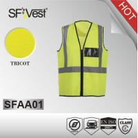 Class ii safety vest , man reflective fabric and tape security guard vest EN ISO 20471