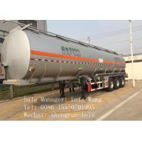 Crude Oil Tank Trailer , Small Fuel Tank Trailer With 3 Axles 13 Ton FUWA Brand