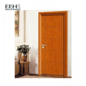 China Single Open Way Solid Wood Flat Door , Vintage Solid Wood Core Interior Slab Door on sale