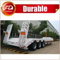 Buy cheap 3-axle Heavy duty Machinery Transport Low Bed Semi Trailer(Axle&Size Optional)/semi trailer/Flatbed semi trailer product