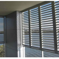 Buy cheap Shutters Tempered Glass Aluminum Louver Window product