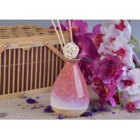 Buy cheap 330ml Pink Glazing Ceramic Aromatherapy Oil Diffuser Bottle for Home Fragrance product