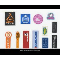 Buy cheap Custom plastic rubber patch/silicone label with color logol/pvc label for garment product