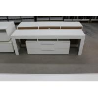 Buy cheap High Gloss White Wood TV Stand / Residential Using Solid Wood Corner TV Cabinet product