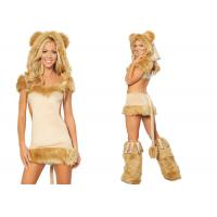 Buy cheap Apricot Party Adult Costumes Courageous Lioness Costume Attached Tail product