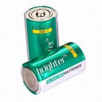 China Mono Rechargeable Alkaline Batteries in D Size, Made of Mercury, 2pcs/Shrink Pack on sale