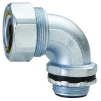 Buy cheap Plum Type Flexible Conduit Fittings 90 Degree Angle Liquid Tight Connector product