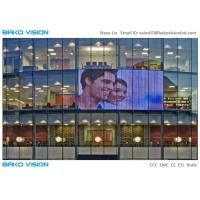 Buy cheap High Brightness Billboard Transparent LED Screens P10 IP65 For Glass Video Wall product