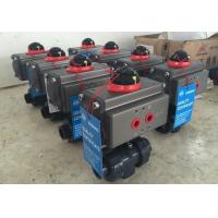 China Pneumatic PVC Ball Valve With Actuator on sale